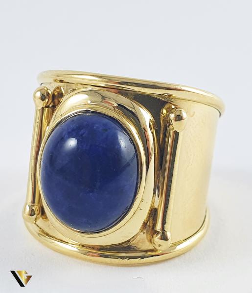 Inel Aur 18k, Lapis lazuli, 8.11 grame 1