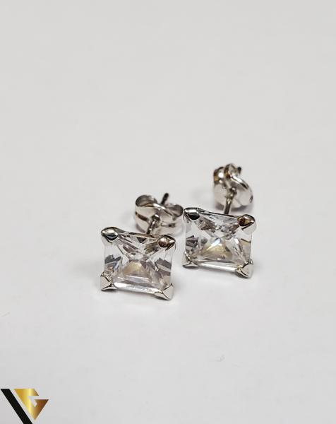 Cercei Aur 18K, Cristale din Zirconiu, 1.21 grame (IS) 0