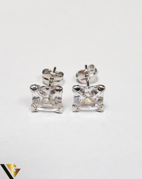 Cercei Aur 18K, Cristale din Zirconiu, 1.21 grame (IS) 1