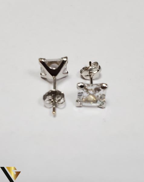 Cercei Aur 18K, Cristale din Zirconiu, 1.21 grame (IS) 2