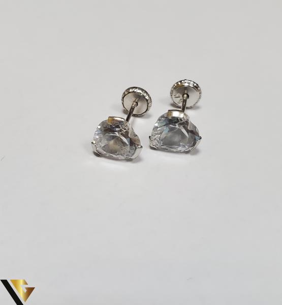 Cercei Aur 18K, Cristale din Zirconiu, 1.36 grame (IS) [0]