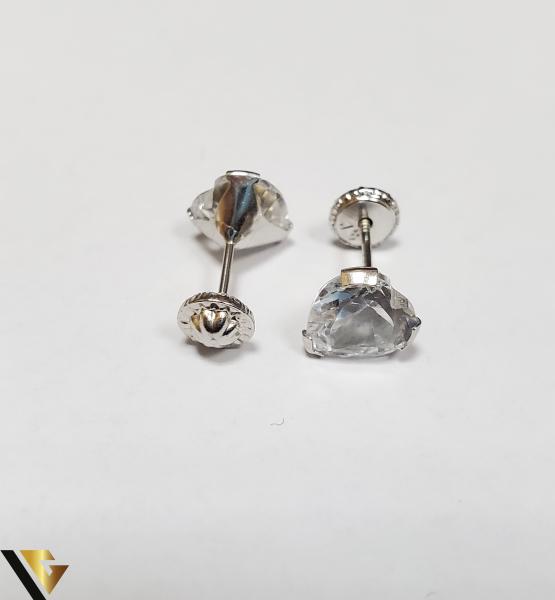 Cercei Aur 18K, Cristale din Zirconiu, 1.36 grame (IS) [2]