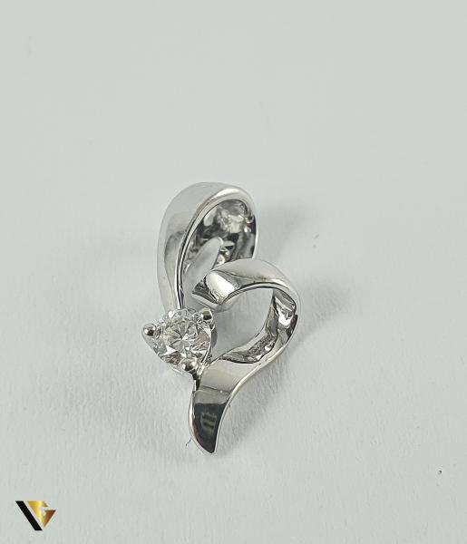 Pandant Aur 18k, Diamant de cca. 0.09 ct, 0.84 grame 0