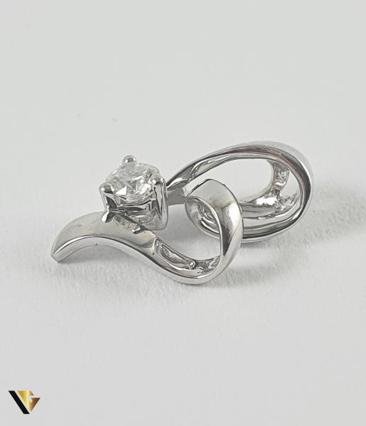 Pandant Aur 18k, Diamant de cca. 0.09 ct, 0.84 grame 1