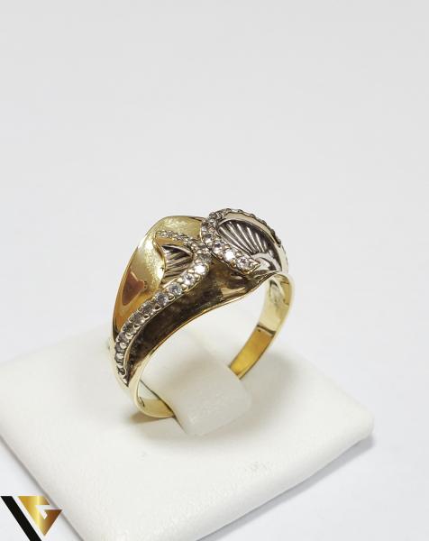Inel Aur 14K, Cristale din Zirconiu, 3.68 grame (IS) 0