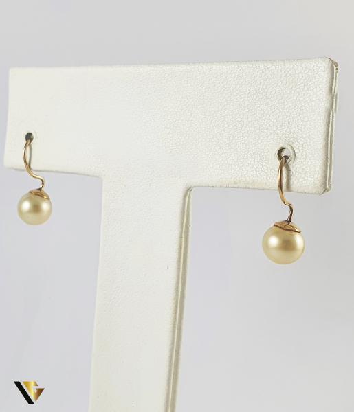 Cercei Aur 9k, Perle naturale de cultura, 1.55 grame 0