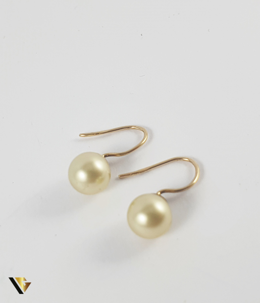Cercei Aur 9k, Perle naturale de cultura, 1.55 grame 1