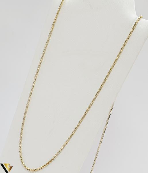 """Lant din aur 14k, 585 4.77 grame Lungime de 35 cm Latime de 1.5 mm Marcaj cu titlul """"585"""" Locatie HARLAU 0"""