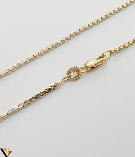 """Lant din aur 14k, 585 4.77 grame Lungime de 35 cm Latime de 1.5 mm Marcaj cu titlul """"585"""" Locatie HARLAU 1"""