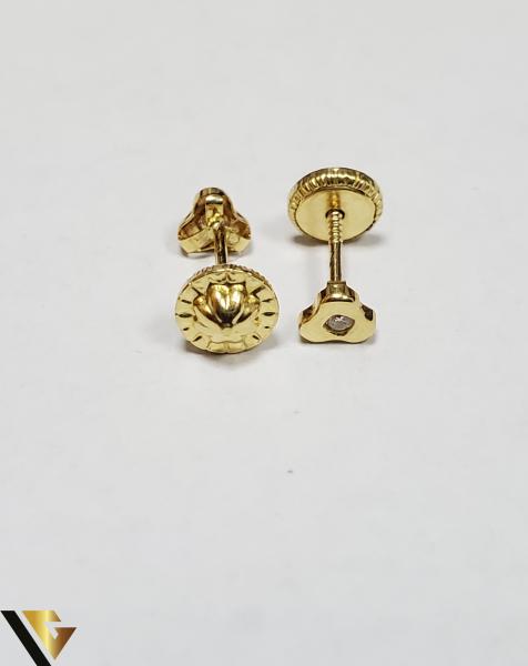 Cercei Aur 18K, Cristale din Zirconiu, 0.31 grame (IS) 2