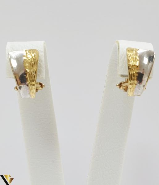 Cercei din aur  18k, 750 3.08 grame Lungimea cerceilor 13mm Latimea cerceilor 6mm Marcaj cu titlul 750 Locatia HARLAU 0