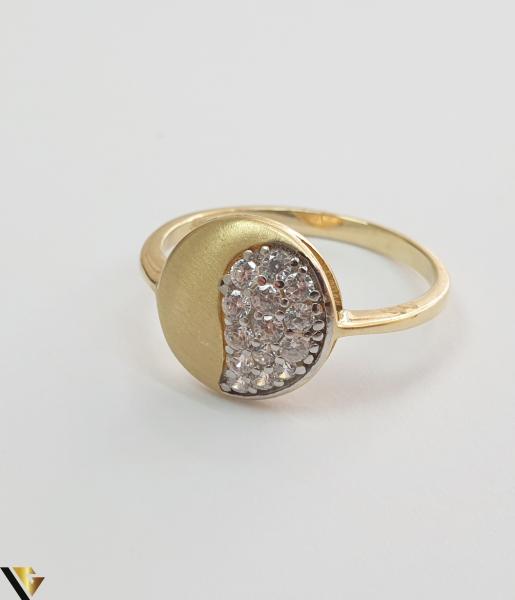 """Inel din aur 14k, 585 2.10grame Diametrul inelului este de 18mm (masura standard RO:56 si UE:16) Latimea in partea superioara este de 11 mm Marcaj cu titlul """"585"""" Locatie Harlau 1"""