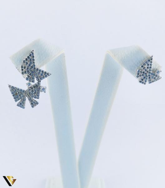 Cercei argint 925, Fluturi, 2.40 grame (R) 2