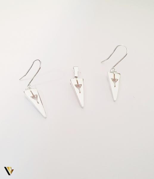 Set Argint Cercei si Pandantiv , 2.76 grame (BC M) [0]