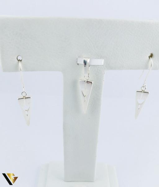 Set Argint Cercei si Pandantiv, 2.60 grame (R) 1