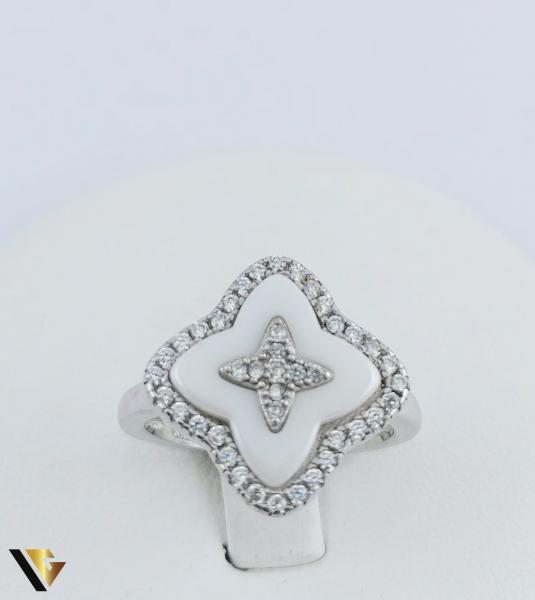 Inel Argint 925, Agata Alba, 4.18 grame (R) 1