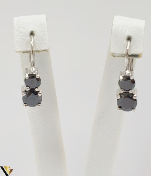 """Cercei din argint 925 3.91 grame Cristale de zirconiu Lungimea cerceilor este de 20 mm Latimea maxima a cerceilor este de 6mm Marcaj cu titlul """"925"""" Locatie HARLAU [0]"""