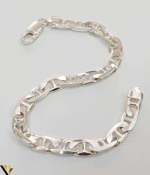 """Bratara din argint 925 17.72 grame Lungimea bratarii este de 21 cm Latimea bratarii este de 7 mm Marcaj cu titlul """"925"""" Locatie HARLAU [2]"""