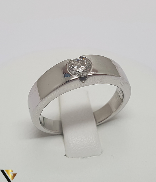 Inel Aur 18k, Diamant de cca. 0.26 ct, 6.63 grame (IS) 0