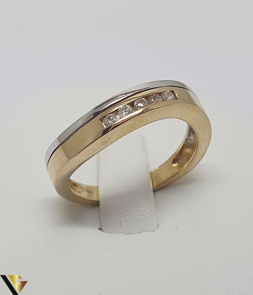 Inel aur 18k, Diamante de cca. 0.10 ct, 3.44 grame (IS) 0