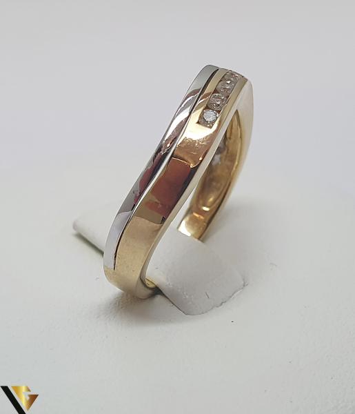 Inel aur 18k, Diamante de cca. 0.10 ct, 3.44 grame (IS) 1
