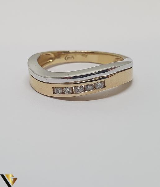 Inel aur 18k, Diamante de cca. 0.10 ct, 3.44 grame (IS) 2