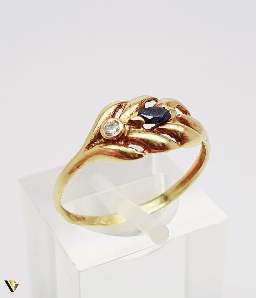 Inel din aur 18k, 1.55 grame (BC M) [0]