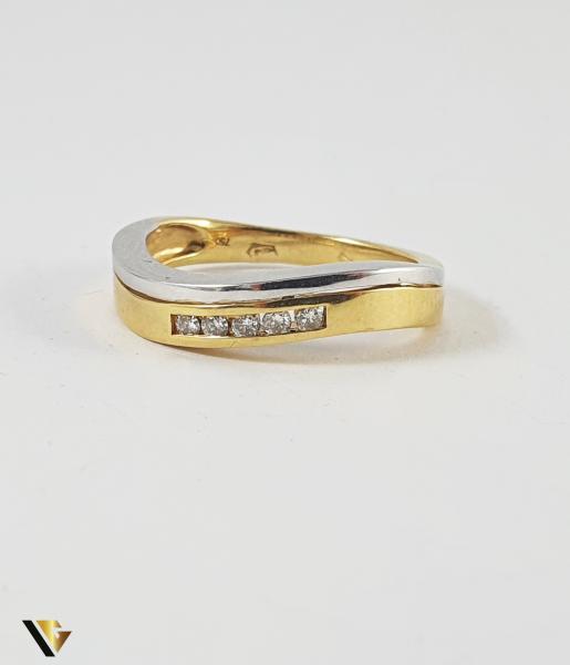 Inel Aur 18k, Diamante de cca. 0.10 ct in total, 3.68 grame (P) 1
