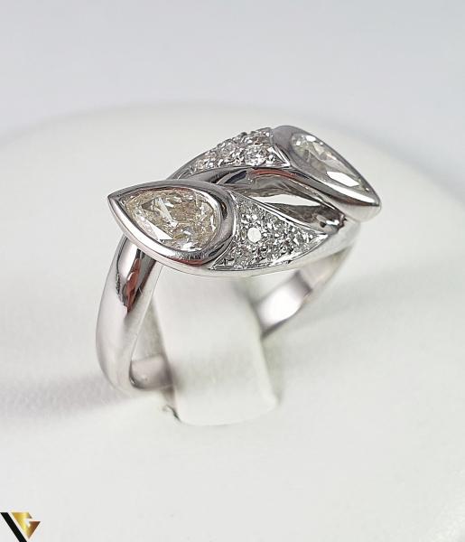 Inel Aur Alb 18k, Diamante cca 1.12ct, 5.45 grame (R) 0