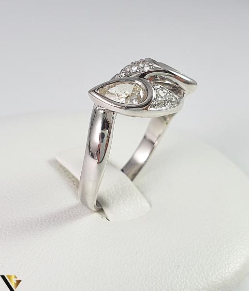 Inel Aur Alb 18k, Diamante cca 1.12ct, 5.45 grame (R) 1
