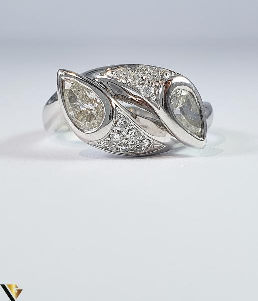 Inel Aur Alb 18k, Diamante cca 1.12ct, 5.45 grame (R) 2