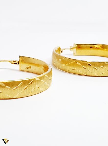 Cercei aur 18K , 3.89 grame (BC M) 2