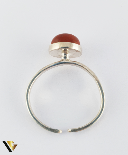 Inel din argint 830 1.85 grame Cabochon rotund, din jasper 2
