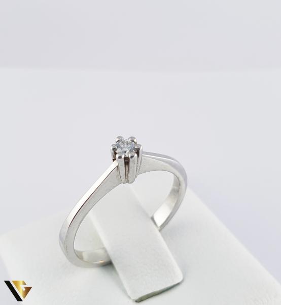 """Inel din aur 18k, 750 de logodna 2.75 grame Diamant """"Brilliant Cut"""" de cca. 0.07 ct [0]"""