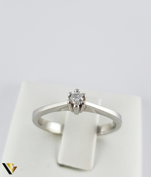 """Inel din aur 18k, 750 de logodna 2.75 grame Diamant """"Brilliant Cut"""" de cca. 0.07 ct [1]"""