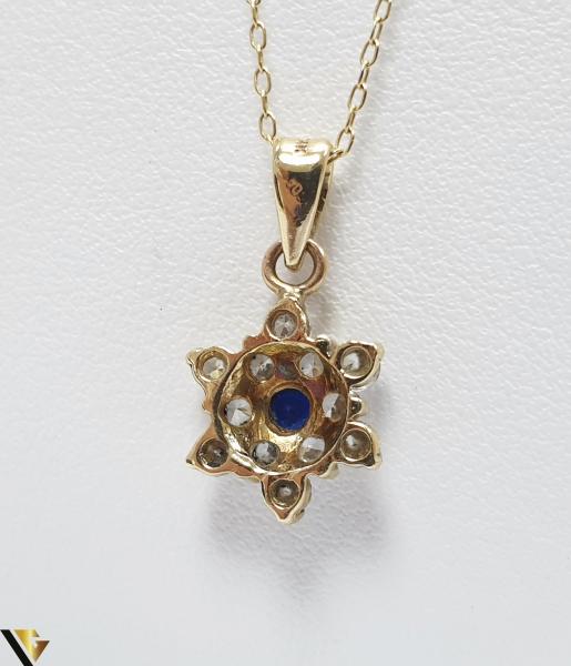 Pandantiv din aur 14k, 585 1.31grame Cristale de zirconiu Lungimea pandantivului cu anou este de 19 mm Latimea pandantivului este de 9mm Locatie HARLAU 2