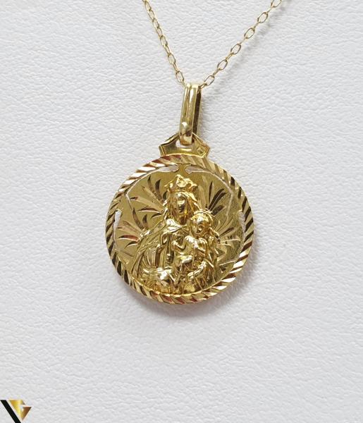 Pandantiv din aur 18k, 750 1.81grame Lungimea pandantivului cu anou este de 24 mm Latimea pandantivului este de 16mm Locatie HARLAU 1