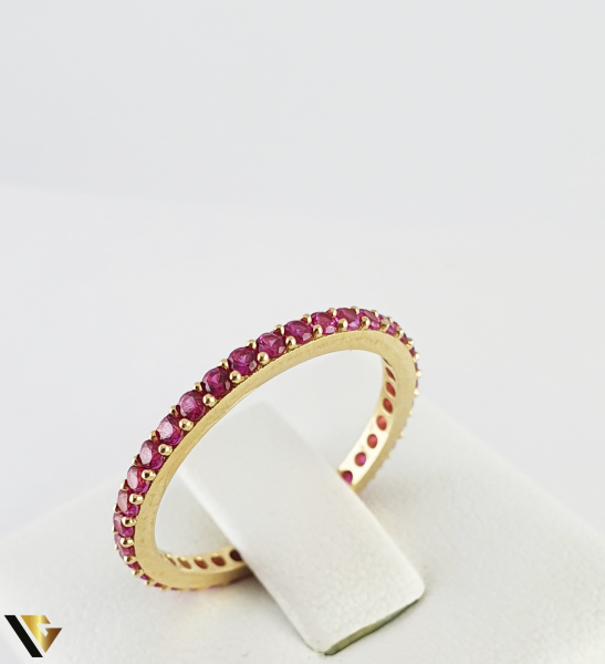 "Inel din aur 14k, 585 1.43 grame ""Eternity ring"" 0"