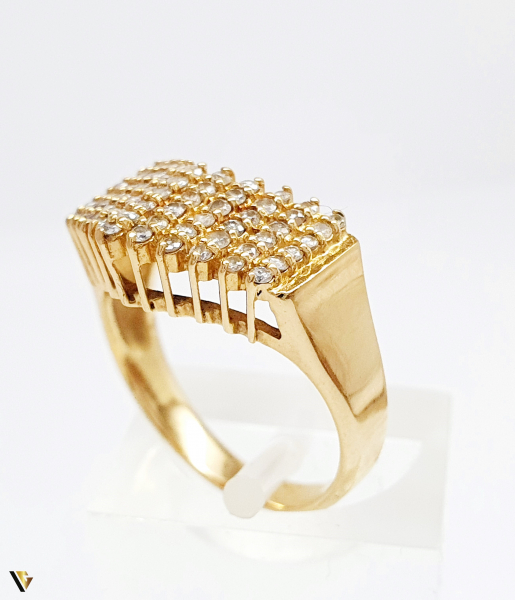 Inel cu diamante de cca. 0.66 ct, din aur 18k, 4.50 grame (BC M) [2]