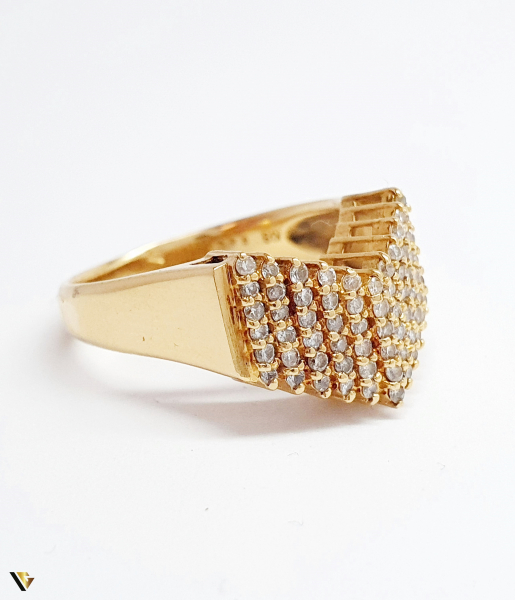 Inel cu diamante de cca. 0.66 ct, din aur 18k, 4.50 grame (BC M) 1