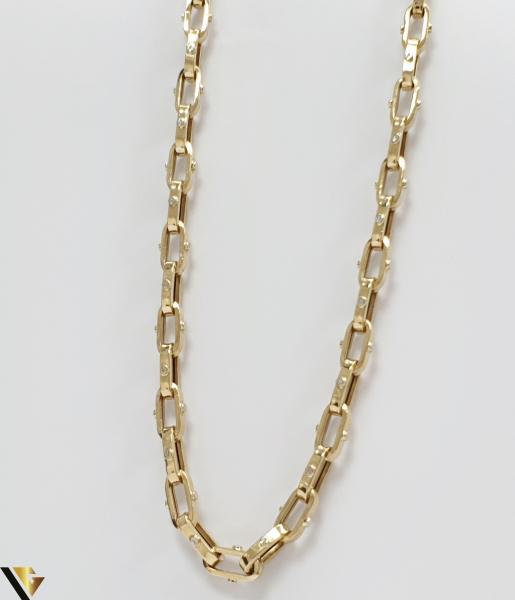 """Lant din aur 14k, 585 28.19 grame Lungime de 60 cm Latime de 6 mm Marcaj cu titlul """"585"""" Locatie HARLAU [0]"""