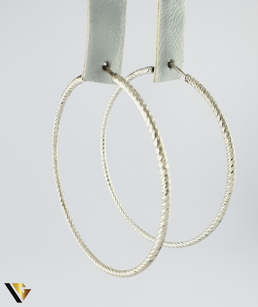 Cercei argint 925, 7.32 grame (R) Rotund, Veriga 1