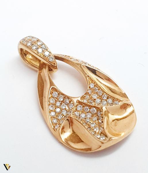 Set cu diamante cca. 0.58 ct., din aur rose 18k, 8.70 grame 1