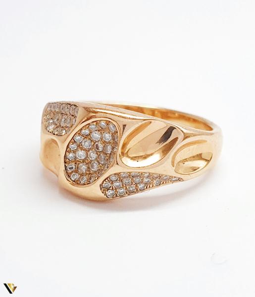 Inel cu diamante de cca. 0.252 ct, din aur rose 18k, 4.92 grame (BC M) 1