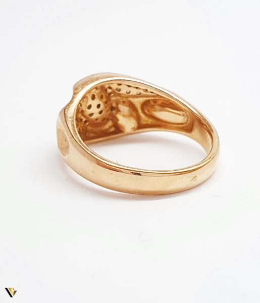Inel cu diamante de cca. 0.252 ct, din aur rose 18k, 4.92 grame (BC M) 3