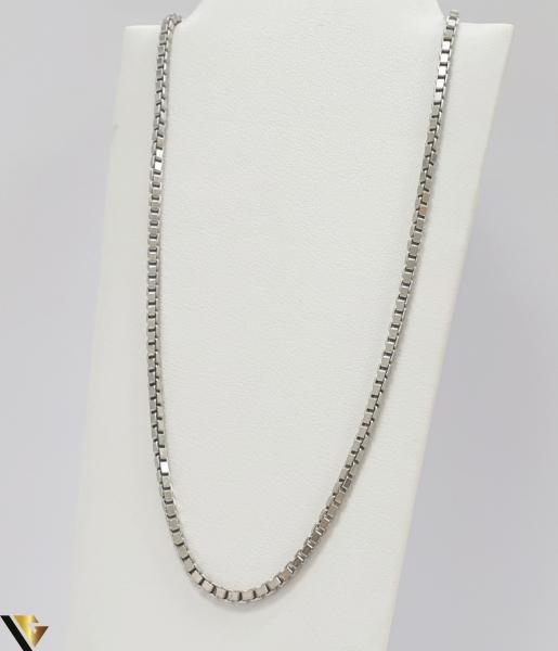 """Lant din argint 925 11.55 grame Lungime de 40 cm Latime de 2.3mm Marcaj cu titlul """"925"""" Locatie HARLAU 0"""