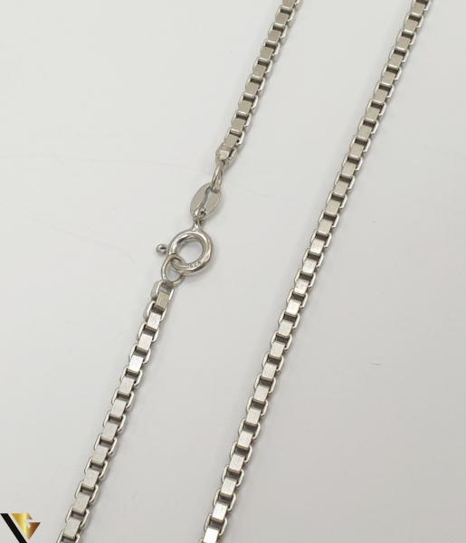 """Lant din argint 925 11.55 grame Lungime de 40 cm Latime de 2.3mm Marcaj cu titlul """"925"""" Locatie HARLAU 1"""