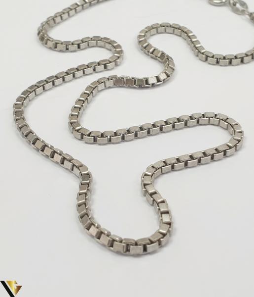 """Lant din argint 925 11.55 grame Lungime de 40 cm Latime de 2.3mm Marcaj cu titlul """"925"""" Locatie HARLAU [2]"""