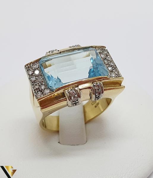 Inel Aur 18k, Diamante cca. 0.35 ct, 12.85 grame (IS) 0