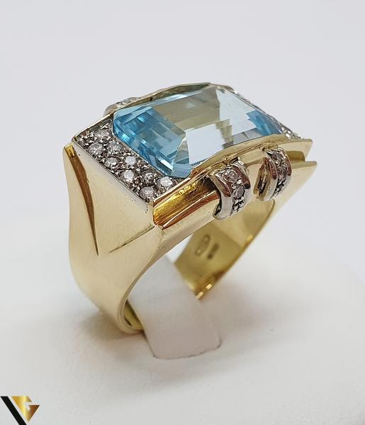 Inel Aur 18k, Diamante cca. 0.35 ct, 12.85 grame (IS) 1